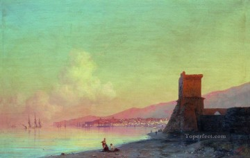 sun - sunrise in feodosia 1852 Romantic Ivan Aivazovsky Russian